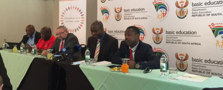 Basic Education department and unions are outlining their decision taken on the Annual National Assessments. Picture: Emily Corke/EWN.