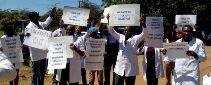 Doctors in Zimbabwe are striking over pay and working conditions. Picture: @ZHDAofficial/Twitter