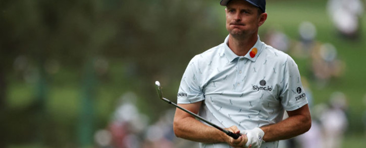 Justin Rose of England plays a shot on the 17th hole during the first round of the Masters at Augusta National Golf Club on 8 April 2021 in Augusta, Georgia. Picture: Kevin C. Cox/AFP