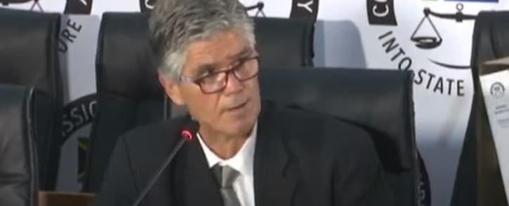 A screengrab of Gavin Craythorne testifying at the state capture commission of inquiry on 11 January 2021.