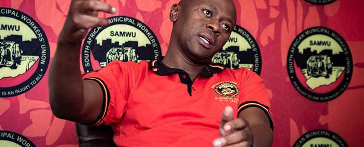 South African Municipal Workers Union (Samwu) general secretary Koena Ramotlou. Picture: Sethembiso Zulu/EWN