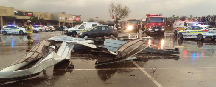 A tornado swept through parts of the East Rand on 26 July, leaving a number of people injured. Picture: ER24