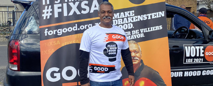 Former Springbok coach Peter De Villiers on the campaign trail in Paarl on 13 September 2021. De Villiers is the Good Party's mayoral candidate for the Drakenstein Municipality. Picture: Shamiela Fisher/Eyewitness News