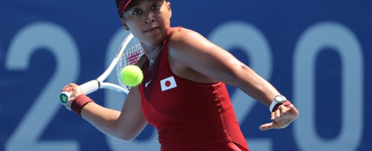 Naomi Osaka won against China's Zheng Saisai on Saturday 24 July 2021 in her first match since taking a break for mental health reasons. Picture: Twitter/@Tokyo2020