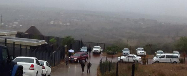 FILE: Parliament's ad hoc committee arrive in Nkandla for an in-loco inspection of President Jacob Zuma's private home on 22 July 2015. Picture: Rahima Essop/EWN.