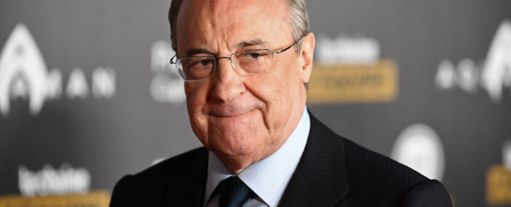 In this file photo taken on 3 December 2018 Real Madrid's president Florentino Perez poses upon arrival at the 2018 Ballon d'Or award ceremony at the Grand Palais in Paris. Picture: AFP