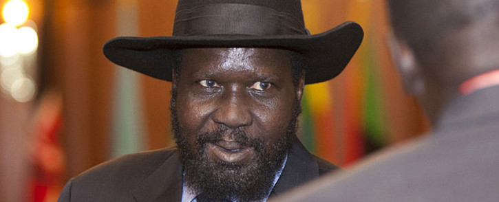 South Sudan's president Salva Kiir arriving to attend the Intergovernmental Authority on Development (IGAD) 29th Extraordinary Summit, in Addis Ababa on January 29, 2015. Kiir has finally agreed to sign a peace deal and power-sharing accord to end a 20-month civil war. Picture: AFP.