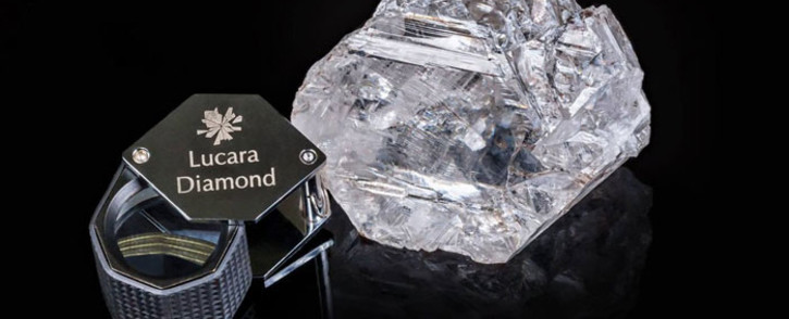 FILE: The Lesedi la Rona, which means our light in the Tswana language spoken in Botswana, is the world's second-biggest gem quality diamond. Picture: Lucara Twitter: @LucaraDiamond.