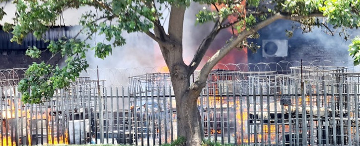 It is understood that at least two explosions occurred at the chemical factory on Otto Volek Road in New Germany, Pinetown, on 8 November 2020. Picture: Supplied.