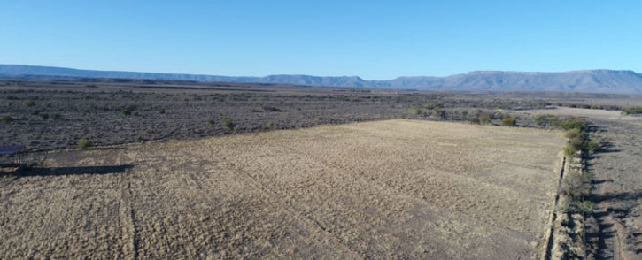 A drought-hit farm in the central Karoo. Picture: Supplied.