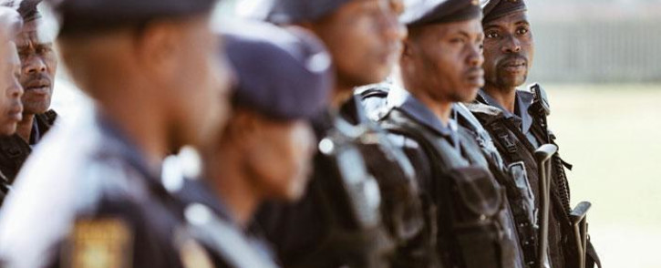 FILE: Specialised units like the Flying Squad, TRT (Tactical Response Team) and POP (Public Order Police) prepare themselves for official deployment in the Westbury community by Police Minister Bheki Cele. Picture: Thomas Holder/EWN