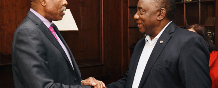 President Cyril Ramaphosa meets with the Board of the South Africa Reserve Bank (SARB) at the Sefako Makgatho Presidential Guesthouse in Tshwane. Picture: GCIS.