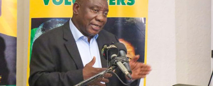 ANC leader Cyril Ramaphosa campaigning in Sandton on 4 April 2019. Picture: @MYANC/Twitter