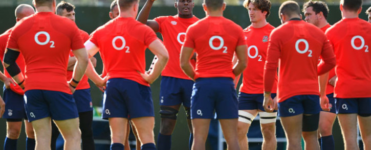 England players during a training session on 22 October 2020. Picture: @EnglandRugby/Twitter