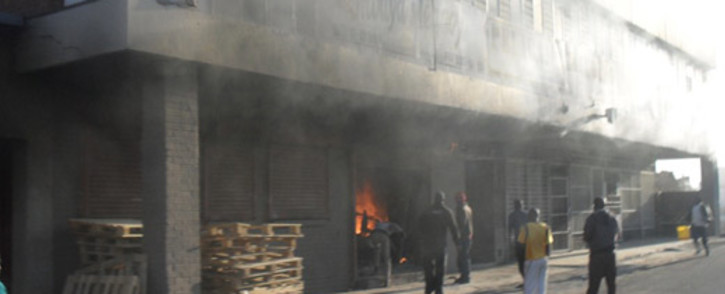 The Pelican building in Orlando West, Soweto caught fire on Thursday 12 July 2012. Picture: Reginald Nhlapo/iWitness