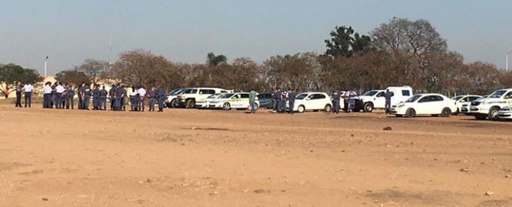 Tshwane authorities monitor a taxi strike at the old Putco depot in Marabastad on 8 November 2017. Picture: Pelane Phakgadi/EWN