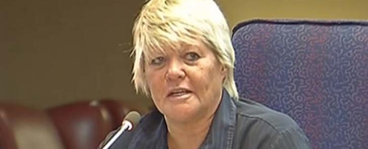 A screengrab of former prosecutor Glynnis Breytenbach testifying at the Mokgoro inquiry. Picture: YouTube