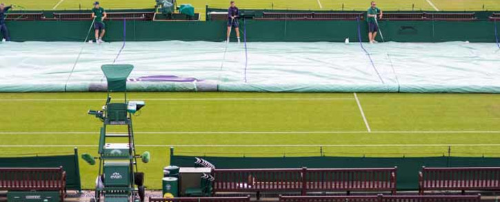 FILE: Light rain at the All England Club has caused a delay to the start of matches on outside courts. Picture: Twitter/@Wimbledon