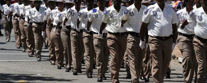 Ekhuruleni Metro Police Department (EMPD) officers on parade. Picture: https://www.ekurhuleni.gov.za/departments/2/empd.html