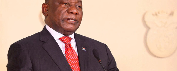FILE: President Cyril Ramaphosa addresses the nation on 17 June 2020 on the easing of level 3 lockdown restrictions. Picture: GCIS.