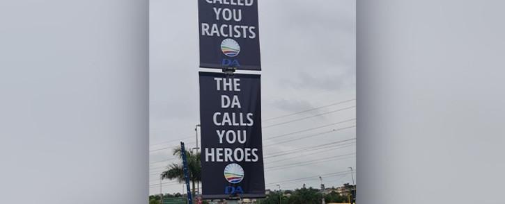 A DA poster in Phoenix. Picture: Supplied.