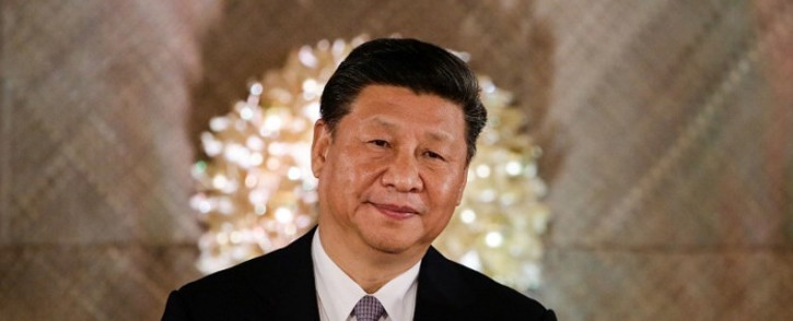 FILE: Chinese President Xi Jinping looks on during a state banquet at the Malacanang Presidential Palace in Manila on 20 November, 2018. Picture: AFP