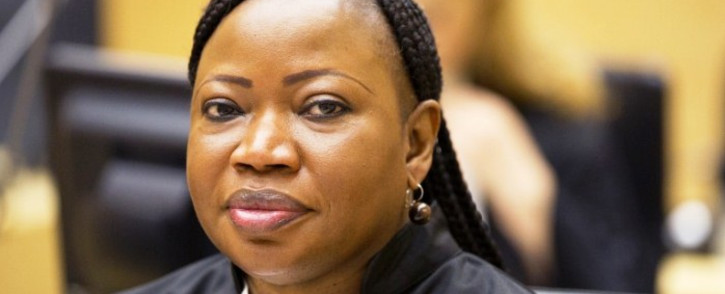 Representative of the Office of the Prosecutor, Fatou Bensouda, attends the trial of Germain Katanga, a Congolese National, at the International Criminal Court (ICC) in the Hague on 23 May 2014. Picture: AFP.