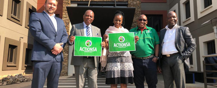 The leadership of ActionSA. Picture: @HermanMashaba/Twitter