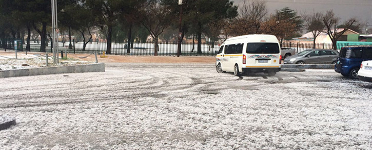 A hail storm hit Lenasia on Monday, 25 July 2016. Picture: Hakeemo Afghan.