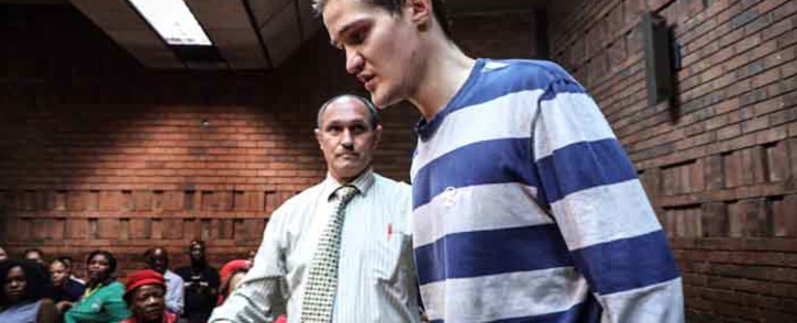 FILE: Nicholas Ninow, the man accused of raping a seven-year-old girl in a restaurant bathroom in Pretoria, appears in the Magistrates Court in Pretoria on 5 March 2019. Picture: Abigail Javier/EWN.