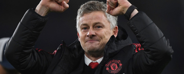 Manchester United caretaker boss Ole Gunnar Solskjaer celebrates his side's victory at Cardiff City. Picture:  @ManUtd/Twitter.