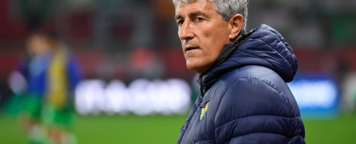 Spanish coach Quique Setien during the Uefa Europa League round of 32 first-leg football match between Rennes and Real Betis at the Roazhon Park stadium in Rennes, western France, on 14 February 2019. Picture: AFP