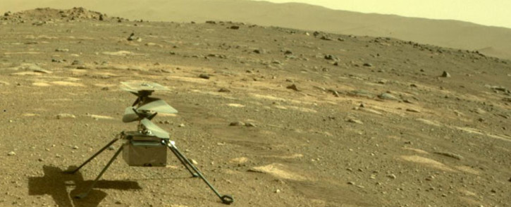 Nasa's Ingenuity helicopter on Mars. Picture: @NASA/Twitter