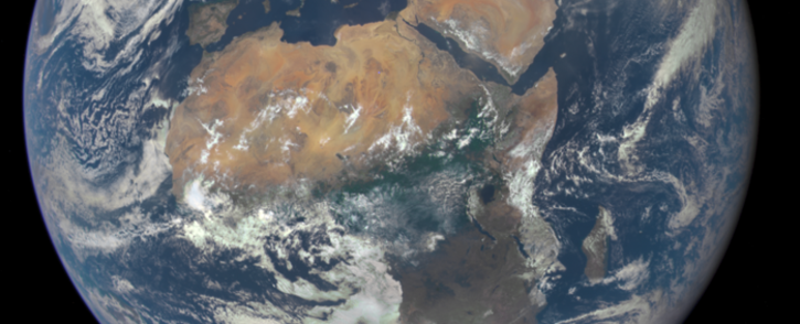 Africa seen from a million miles away. Picture: Nasa.