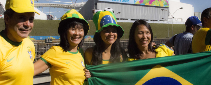 FILE: Thousands of football fans from across the globe made their way to Sao Paulo to attend the opening of the 2014 Fifa World Cup. Picture: Christa Eybers/EWN.