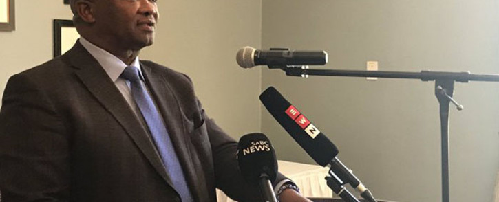United Democratic Movement leader Bantu Holomisa speaking at the Cape Town Press Club on 5 February 2019. Picture: Lindsay Dentlinger/EWN