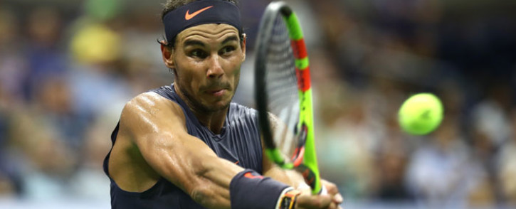 FILE: Rafael Nadal in action at the US Open on 30 August 2018. Picture: AFP.