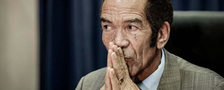 Former Botswana President Ian Khama during a press conference in Johannesburg on 12 December 2019. Picture: Sethembiso Zulu/EWN
