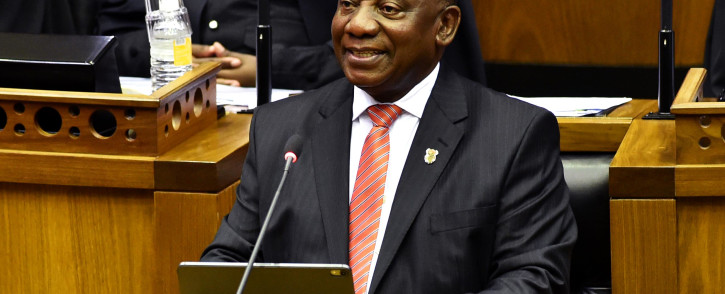 President Cyril Ramaphosa delivering the State of the Nation Address on 13 February 2020. Picture: GCIS