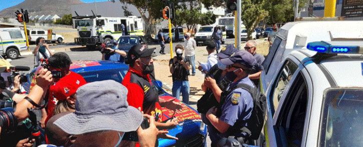 Members of the South African Federation of Trade Unions (Saftu) took to the streets of Cape Town on 24 February 2021, to voice their anger at a number of economic challenges the country faces. Picture: Zukile Daniel/Eyewitness News.