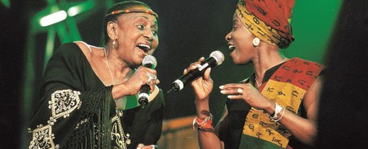Miriam Makeba and Angelique Kidjo. Picture: Supplied.