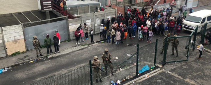 The SANDF arrived in Manenberg on 18 July 2019, as part of an anti-crime operation in gang-plagued areas on the Cape Flats. Picture: Kaylynn Palm/EWN.