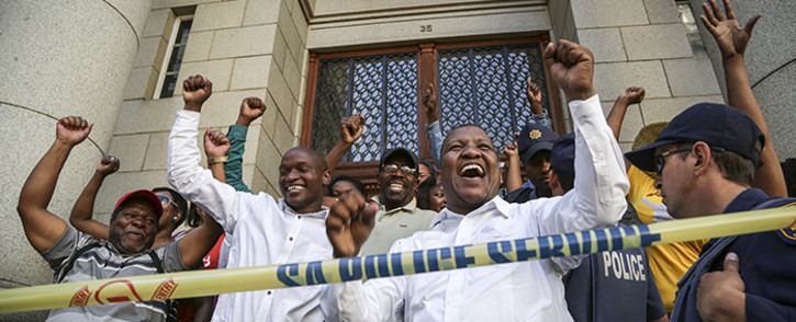 FILE: Ses'khona Peoples Rights Movement's Andile Lili outside the Western Cape High Court. Picture: Thomas Holder/EWN.