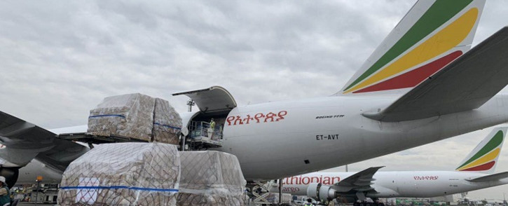 Millions of medical supplies donated by Alibaba CEO and billionaire, Jack Ma, destined for various African countries to assist in the fight against coronavirus have landed in Ethiopia. Picture: Supplied.