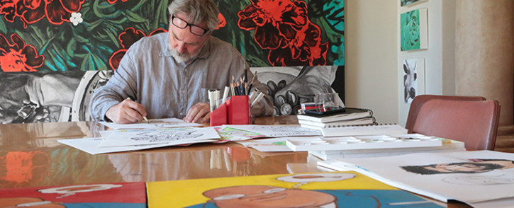 Cartoonist Tim Mostert is in talks with international studios Disney to distribute an animation series about South Africa's history and culture. Picture: Reinart Toerien/EWN.