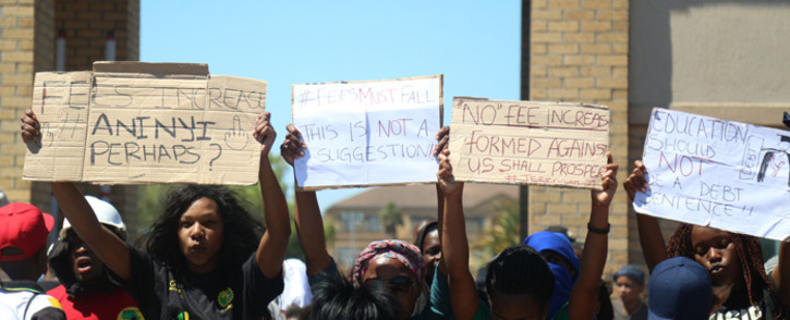 Thousands of university students across the country have been protesting against the proposed fee hike in their respective institutions. Picture: Andiswa Mkosi/Primedia.