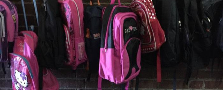 Backpacks outside a classroom at the Sea Point Primary School. Picture: Thomas Holder/EWN