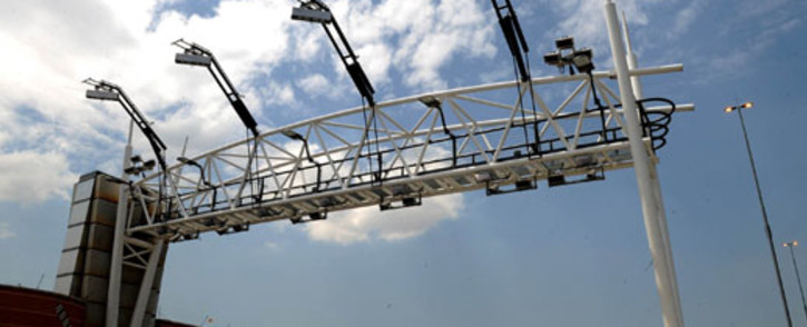 Toll gantry on a Gauteng highway. Picture:SAPA.