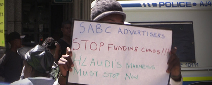 R2K wants advertisers to stop using the public broadcaster until issues around Hlaudi Motsoeneng are cleared.Picture: Kgothatso Mogale/EWN