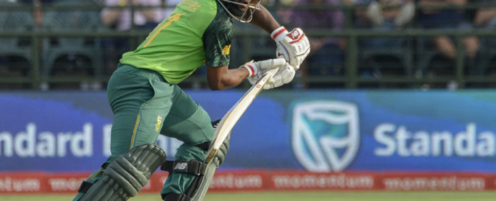South Africa's Temba Bavuma watches the ball after playing a shot during the first one day international (ODI) cricket match between South Africa and England at The Newlands Cricket Stadium in Cape Town on 4 February 2020. Picture: AFP